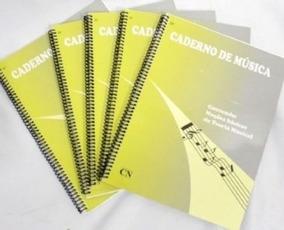 Kit 2 Cadernos De Música Com Noções Básicas De Teoria Musica