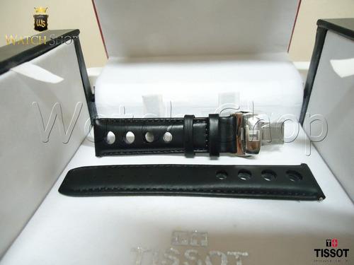 Pulseira De Couro Tissot Prs516 T100417 20mm Preto Original