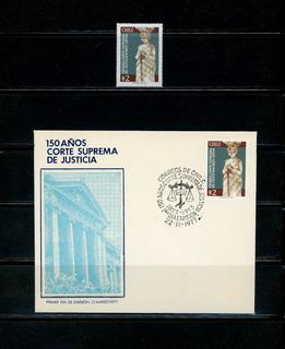 Sellos De Chile. 150 Años De La Corte Suprema De Justicia.