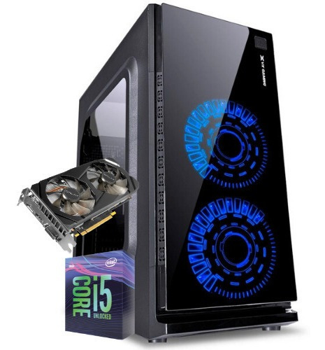 Pc Cpu Gamer /core I5/ 16gb/ Ssd / Rx 580 / Wifi/ Led/ Gab