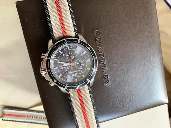 Relógio Burberry Original Chronografo. Estado De Zero!
