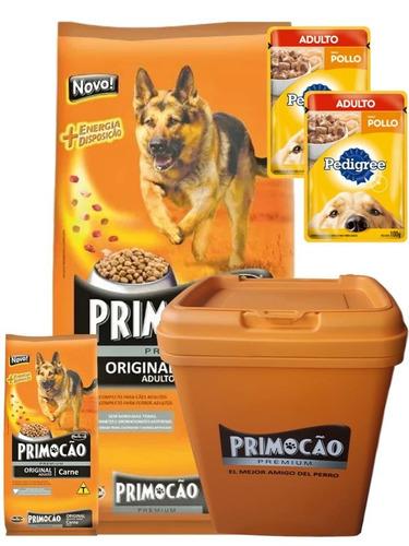 Imagen 1 de 3 de Primocao Adulto Premium 20+2 (22kg) + Contenedor + 2 Pouch