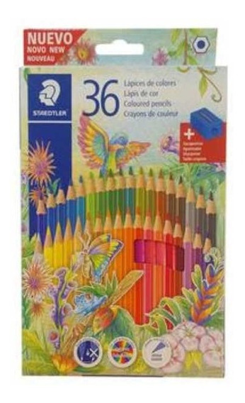 Lapices De Color Pinturitas Staedtler Largas X 36 - Rosario
