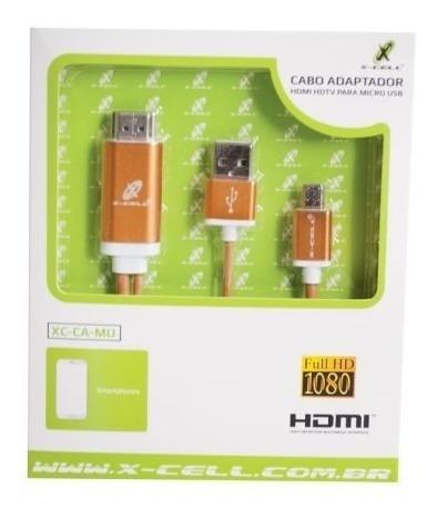 Cabo Adaptador Hdmi Hdtv P/ Micro Usb V8