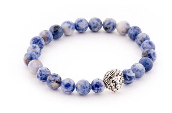 Pulsera Para Hombre Thai Silver Lion Blue