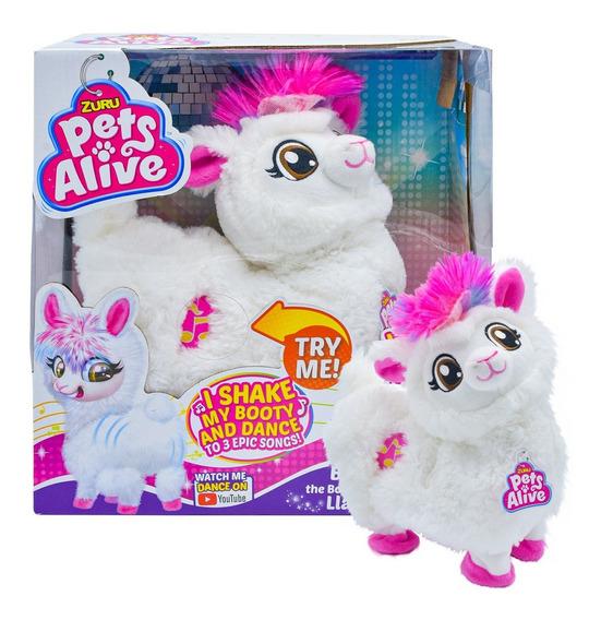 Peluche Pets Alive Llama Blanca