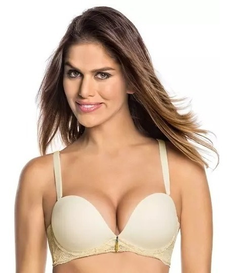 Brasieres Colombianos 3d Triple Realce Aumenta 36b