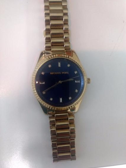 Relógio Michael Kors Original Ouro Blue