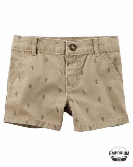 Carters Shorts Cactus Original Menino Tam 24m