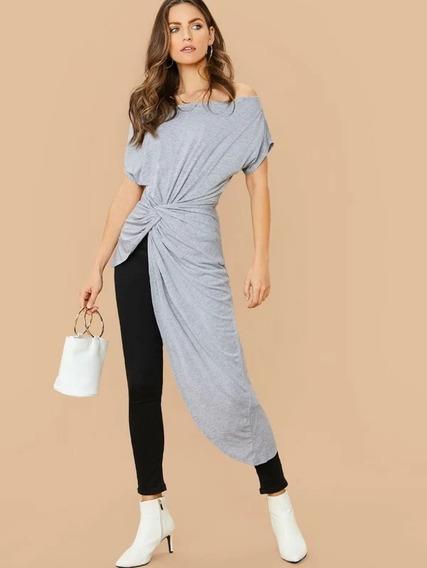 Tsuki Moda Japonesa: Blusa Blusón Asimétrico Hombro Caído