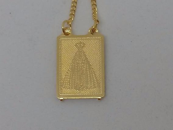 Escapulario Nossa Senhora Aparecida Banhado A Ouro 18k