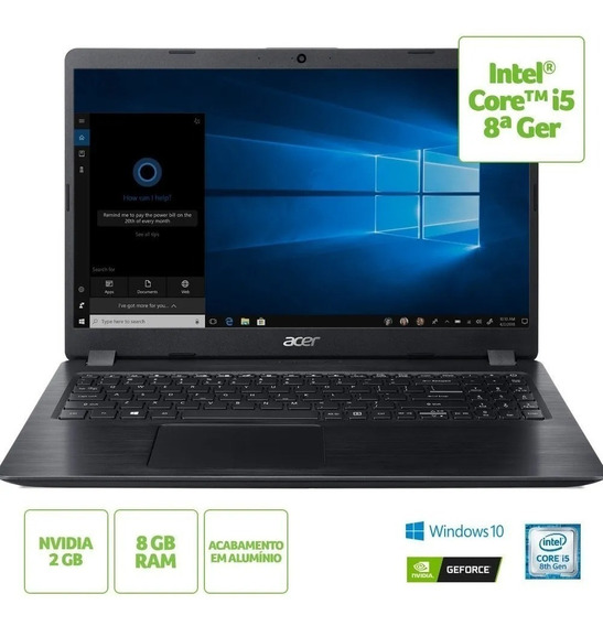 Notebook Acer Aspire 5 A515 I5/8gb/1tb/15,6/gf Mx130/w10