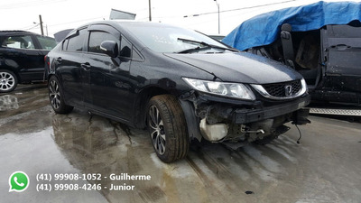 Honda Civic 2.0 Lxr 2015 Sucata Para Peças