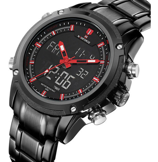 Relógio Masculino Naviforce Militar Esportivo Original 9050