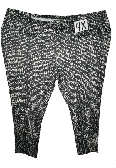 Pantalon Leggins Gris Con Blanco Talla 4x (46/48) Faded Glor