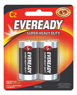 Blister 2 Pilas Zinc Carbon Eveready C Super Heavy Duty - Importadora Fotografica - Distribuidor Oficial Eveready