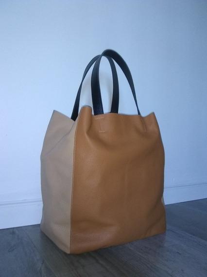 Cartera De Cuero Maxi Shopping Bag