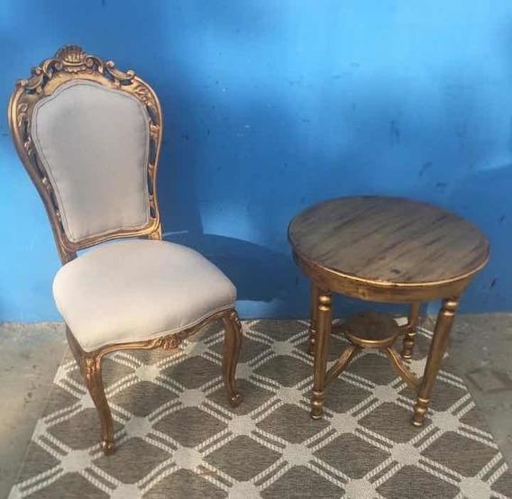 Cadeira Luís Xv Dourada