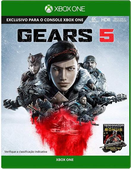 Gears 5 Xbox One Mídia Física Lacrado Pronta Entrega + Nf