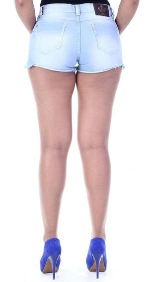 Short Jeans Sawary Feminino Barra Desfiada Lindo! #stu