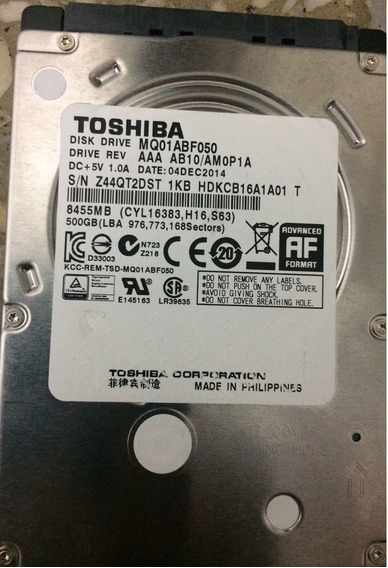 Disco Duro Toshiba 500gb Sata Laptop