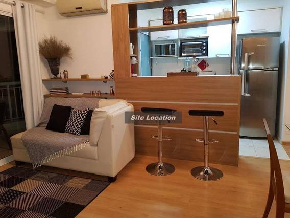 76265 Apartamento Com 1 Dormitório Para Alugar, 54 M² Por R$ 3.700/mês - Brooklin - São Paulo/sp - Ap3659