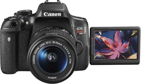 Câmera Profissional Canon T6i Com Lentes Ef-s 18-135mm
