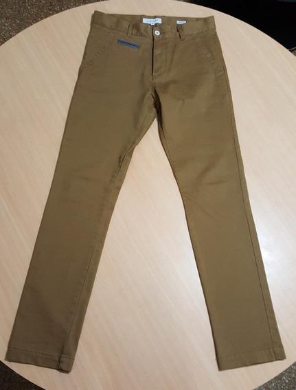 Pantalon Chupin Mostaza Marca Basement Skinny