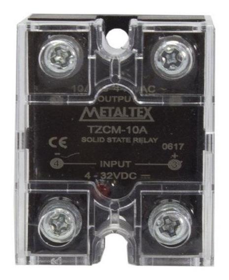 Relé De Estado Sólido Miniatura Tzcm-10a 380vca 4-32vcc Meta
