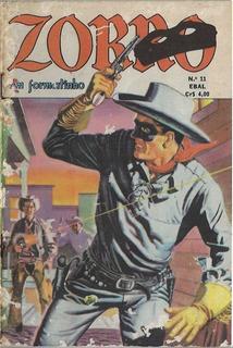 1977 Hq Quadrinhos Zorro Formatinho Em Cores Nº 11 Ed. Ebal