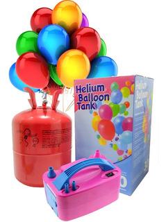 Helio Cilindro De Gas Helio Balon Helio + Inflador Eléctrico