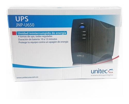 Ups Unitec U650 Con 8 Tomas, Protección Para Computadores