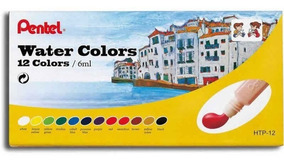 Tinta Aquarela Pentel 12 Cores Water Colors Htp-12b 26652