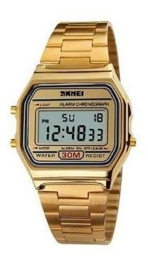 Relógio Unissex Skmei Digital Dourado Prova D