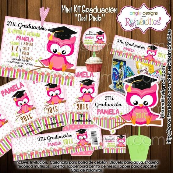Kit Imprimible Diplomas Candy Egresados Buhos Nena Kdkt0196