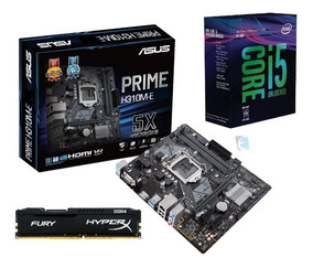 Kit I5 8600k 3.6ghz 8ª G S/cooler Mb H310m-e Hyperx 8gb