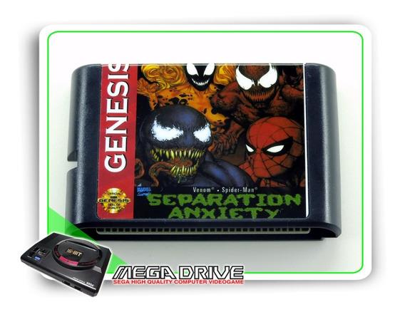Venom Spider-man Separation Anxiety Mega Drive - Novo