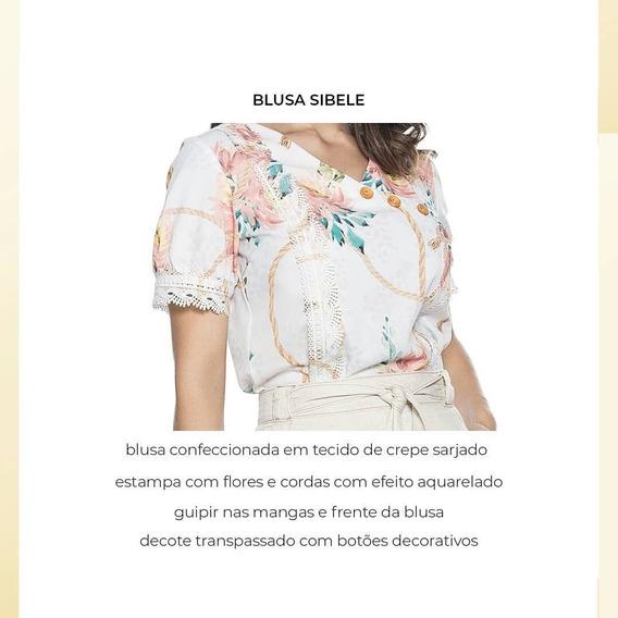 Blusa Com Detalhe Em Botões E GripirMarca Nítido