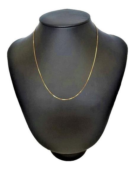 Correntinha De Ouro Modelo Veneziana 18k 750 60cm