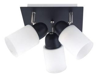 Aplique 3 Luces Pisa Cilindro Base Cuadrada Techo Moderno