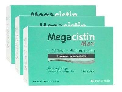 Megacistin Max Fortalecedor Anti Caida 3 Unidades De 30compr