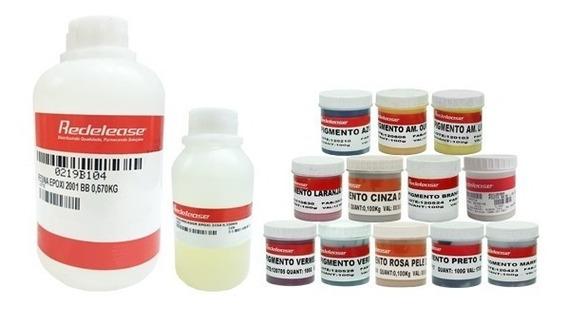 Resina Epoxi Transparente C/ Endurecedor +todos Os Pigmentos