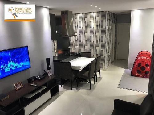 Imagem 1 de 30 de Apartamento Garden Com 2 Dormitórios À Venda, 111 M² Por R$ 477.000,00 - Vila Augusta - Guarulhos/sp - Gd0010