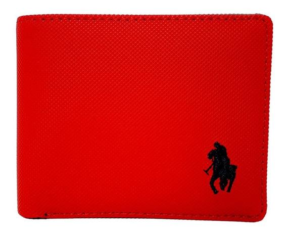 Cartera Hpc Polo Passcase Rojo Con Monedero