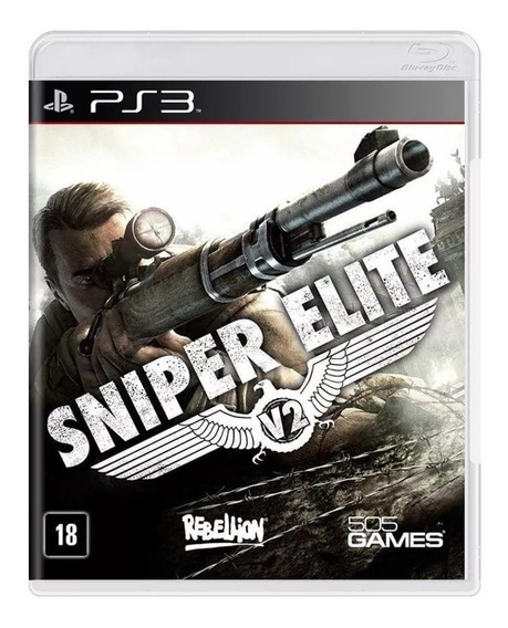 Jogo Midia Fisica Sniper Elite V2 Original Lacrado Para Ps3
