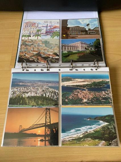 Coleção De 162 Cartões Postais Antigos, Álbum E Divisórias