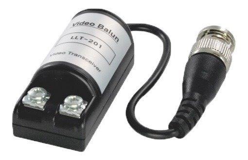 Par Conector Conversor Macho Video Balun Cftv Camera Borne
