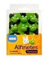 Alfinetes Decorativos Cis Fantasia Sapo Estojo Com 12 Unds