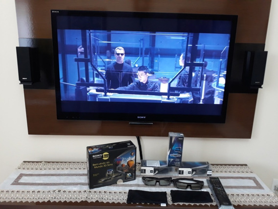 Tv Sony 46 3d + Home Theater Bluray Sony 3d 5.1 Canais