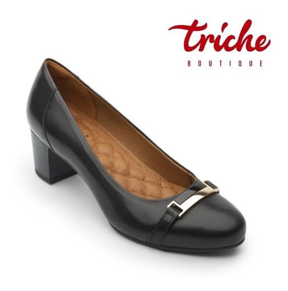 Calzado Zapato Dama Flexi Negro 47402 Tacón Grueso Clásico
